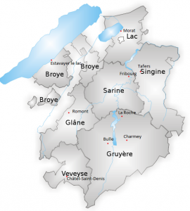 Districts - Canton de Fribourg